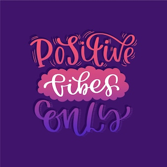 긍정적 인 마음 메시지 글자 테마