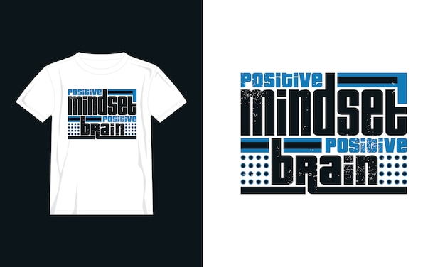 ポジティブな考え方はtシャツのデザインを引用します