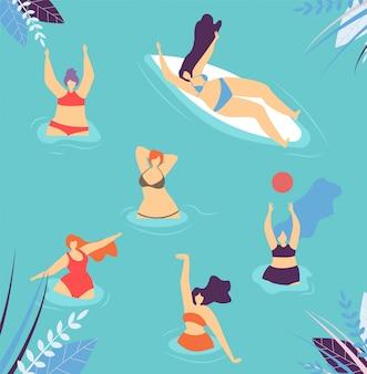 Positive motivation love body banner summer design