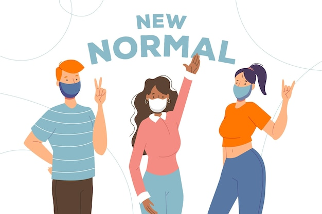 Positive people facing the new normal