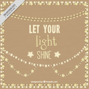 Positive phrase with lights