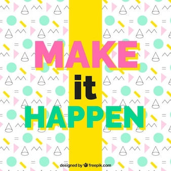 Positive quote on a geometric background