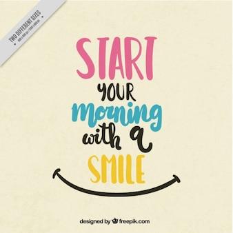 아침을 시작하는 긍정적 인 견적