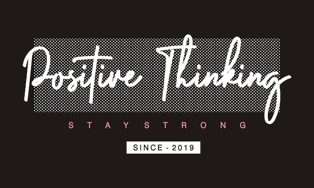 Positive thinking typography