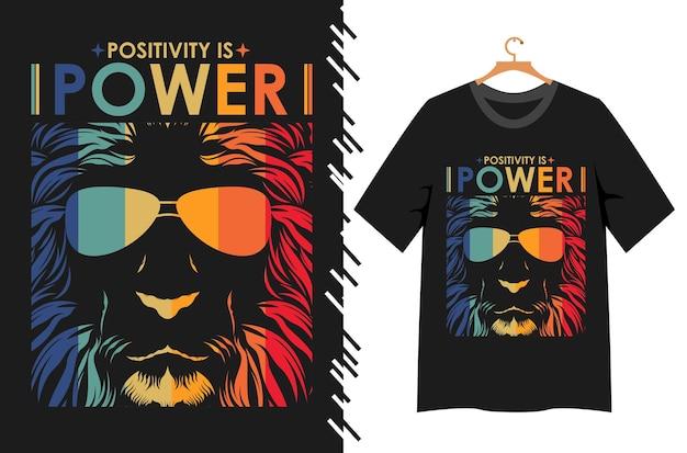 ポジティブはtシャツデザインのパワータイポグラフィです