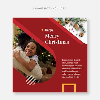 Post instagram christmas design template