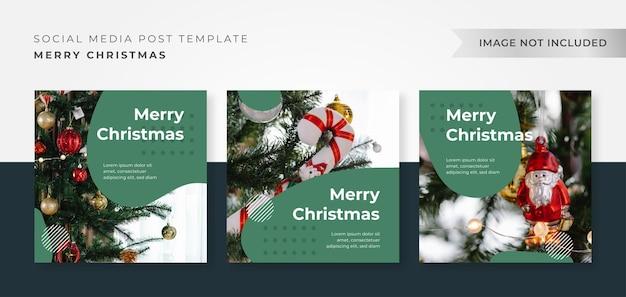 Рождественский шаблон оформления поста instagram
