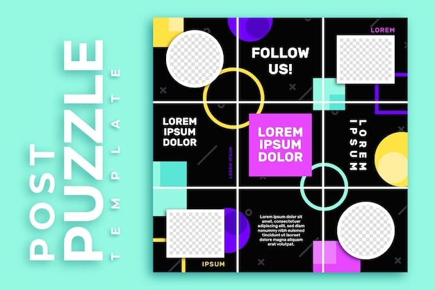 Post instagram puzzle feed template