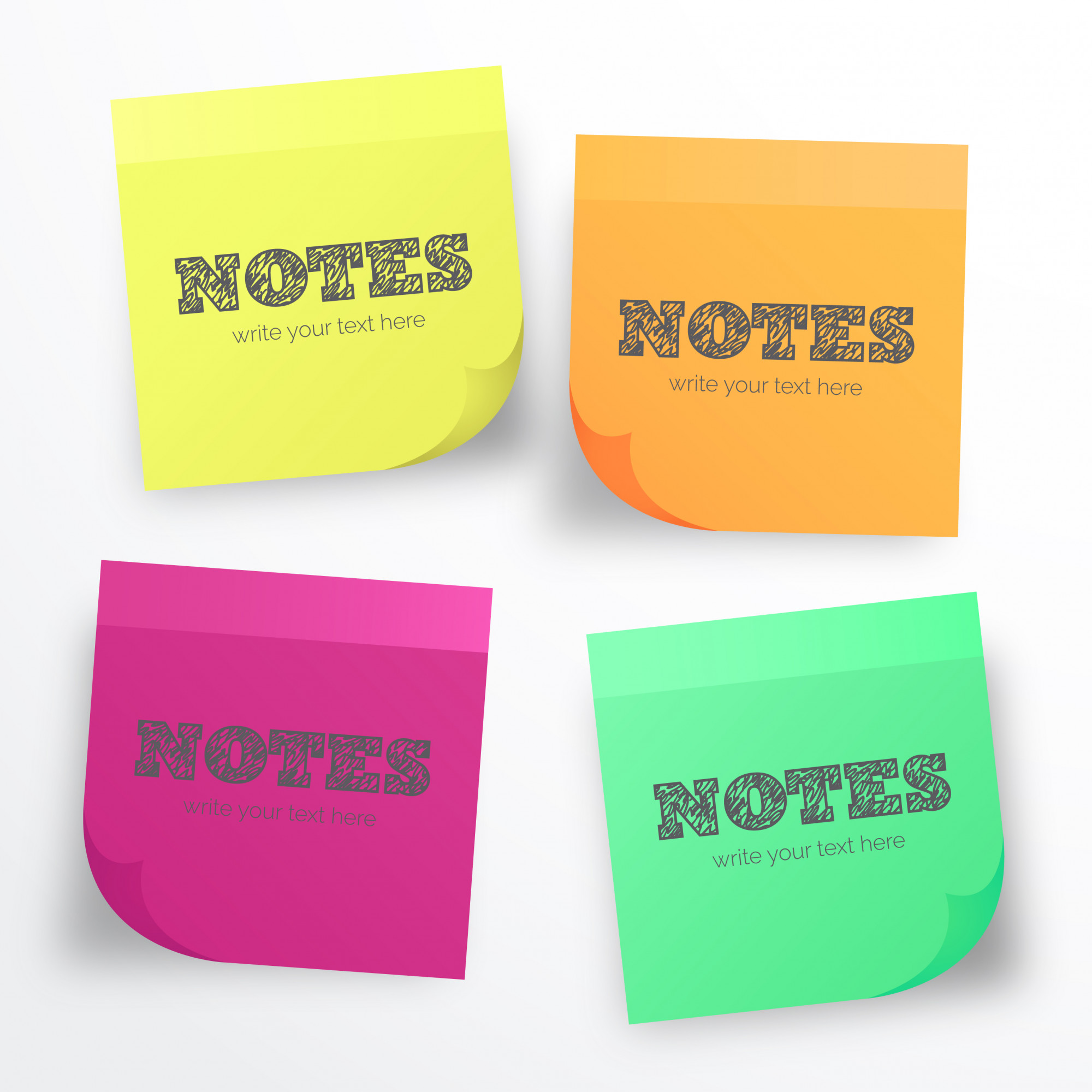 Post it Collection for Notes