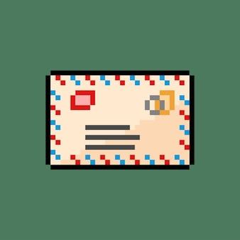 픽셀 아트 스타일의 우편물