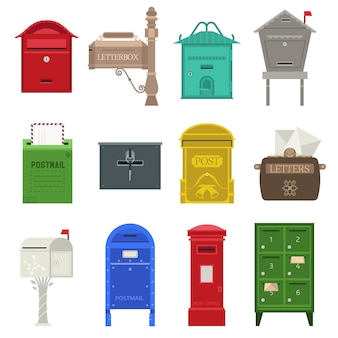 Post mailbox  set.