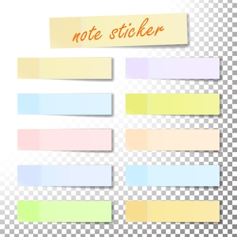 Post note sticker vector