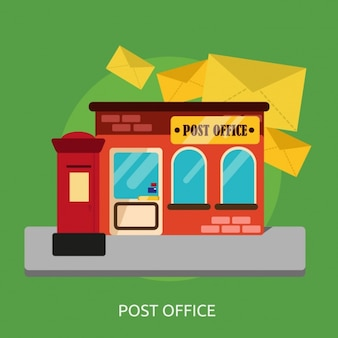 Post office background design