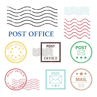 Post office mark   illustration  on white background