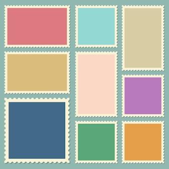 Почтовые марки иллюстрации на фоне