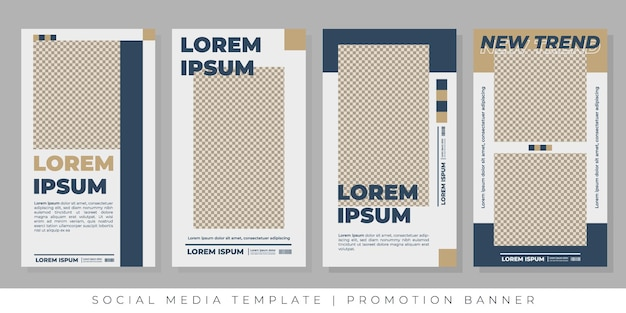 Post templates for social media  promotions
