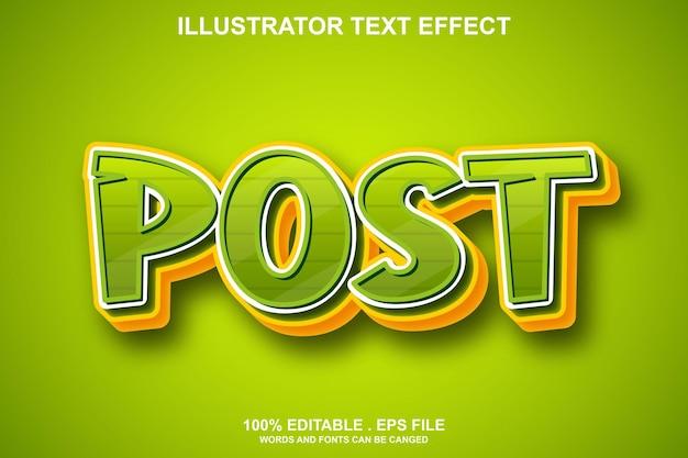 Редактировать текстовый эффект поста