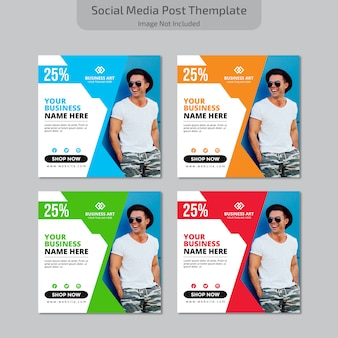 Социальные медиа post themplate
