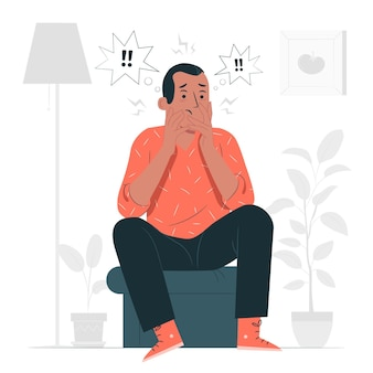 Illustrazione di concetto di disturbo da stress post-traumatico