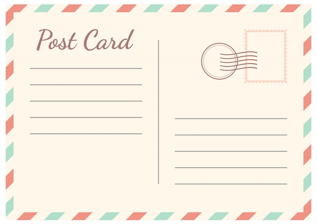 Postal card isolated on white