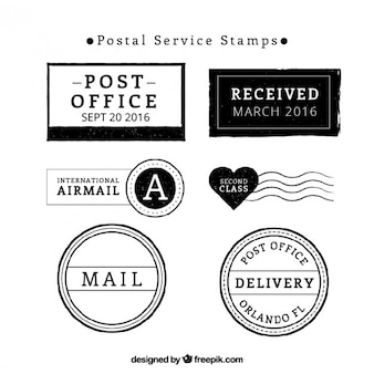 Postal service stamp collection