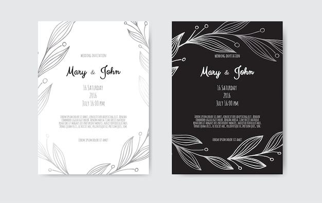Postcard wedding invite template.