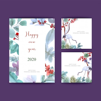 Postcards for new year