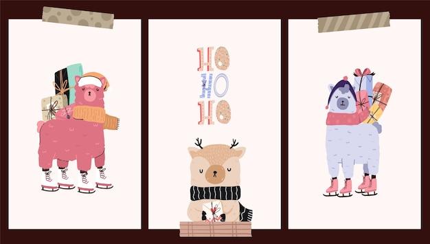 Postcards pattern cute sticker design