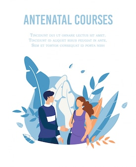 Poster advertising antenatal courses for couples