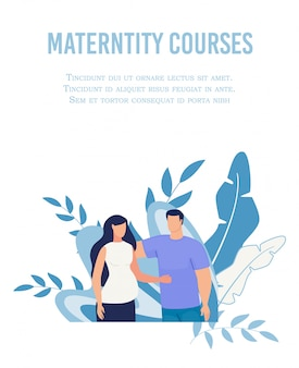 Poster advertising maternity courses for women