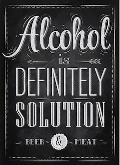 Poster alcohol definitely