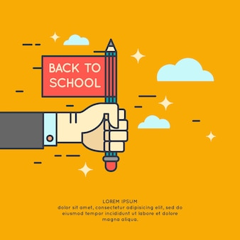 Poster back to school. modern  graphics