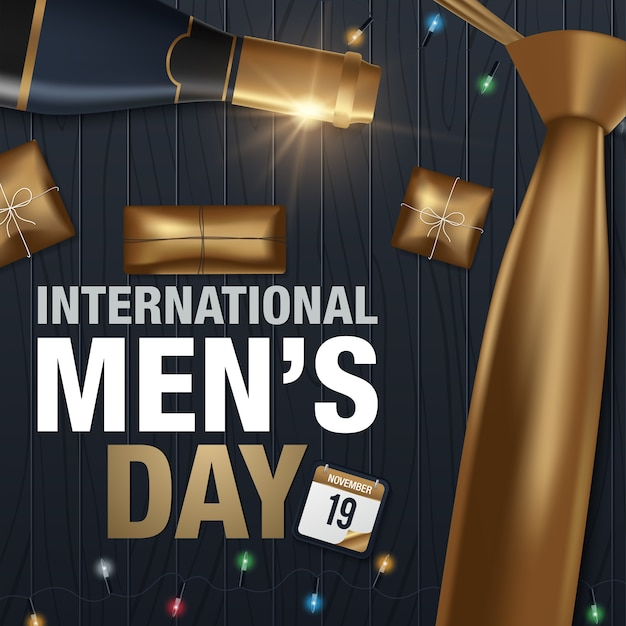 Poster or banner for international man's day