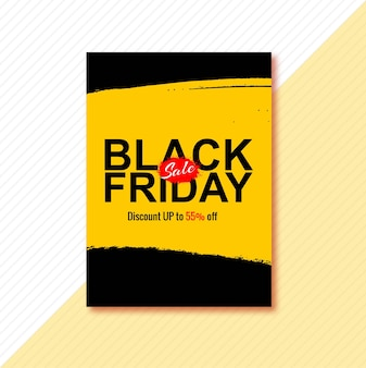 Poster for black friday brochure design