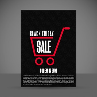 Poster for black friday decorated with a shopping cart