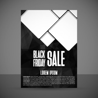 Poster for black friday decorated with white squares