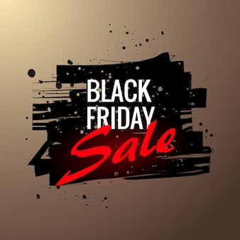 Poster of black friday sale in grunge style