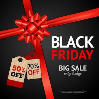 Manifesto della vendita di black friday