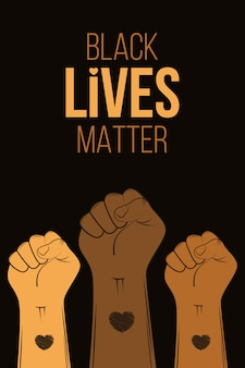 Poster for black lives matter protest. stop violence to black people.