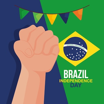 Плакат день независимости бразилии