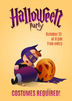 Poster for the celebration of halloween.