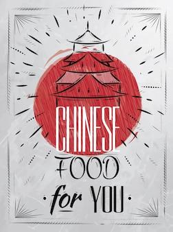ポスター中国の食糧住宅の石炭