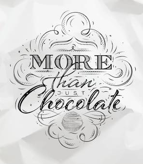 Постер шоколадный уголь