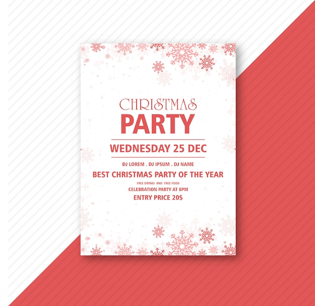 Poster  for christmas celebration party template