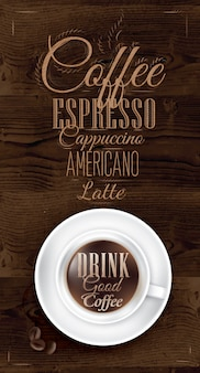 Poster coffee dark brown