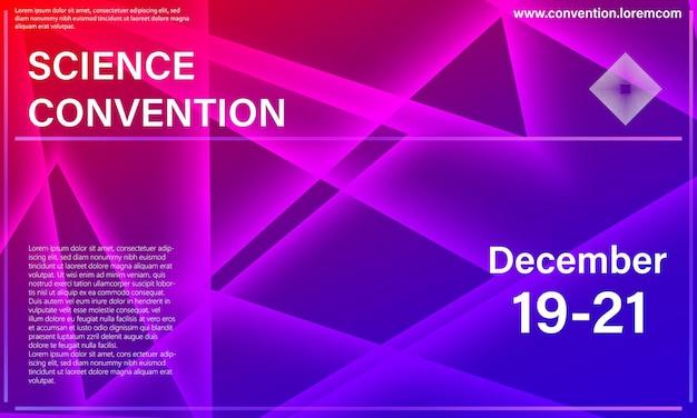 Плакат. шаблон оформления конференции. треугольник красочные элементы.