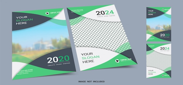 Poster cover book template a4