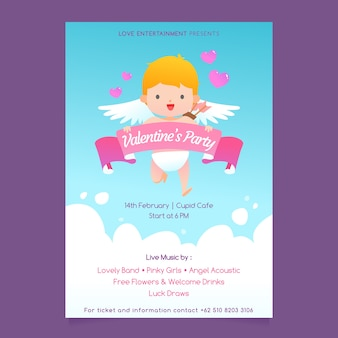 Poster of cupid for valentine's day