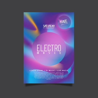 Poster design for electro music party