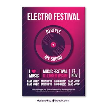 Дизайн плаката для вечеринки с электро-музыкой